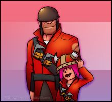 Soldier and Prochyprochy by RatchetMario