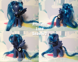 Princess Luna Season 2 Custom Pony by saucycustoms