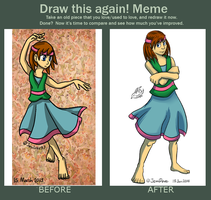 Draw this again Rula (I drew the toes, see :U ) by JemiDove
