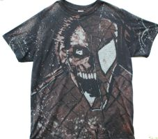 Zombie spidey shirt by BfstudiosLLC