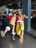 Luffy and Usopp party ! by Kya-Luffy