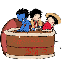 Happy birthday Luffy~ by eagle-eyes