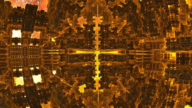 Daily Fractal Wallpaper no9 - Crossing by Dr-Pen