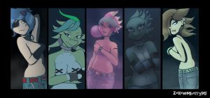 Topless Babes by Zekehimberry95