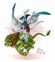 Nashville and Fu Dog Gargoyles by Iluvendure