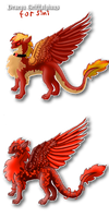 Dragon Griffons for sini by Ravenskysong