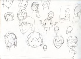 practice 12: heads this time with hair! by TakkunZX