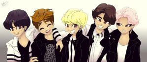 SHINee 2014 by Pulimcartoon