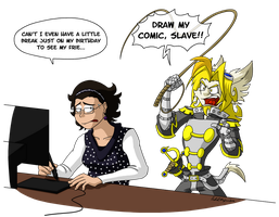 Draw, Slave!! by Comic-Ray