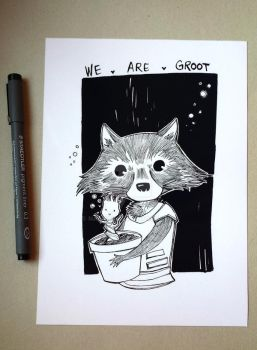 WE ARE GROOT! *Groot and Rocket PRINT!* by Nachan