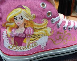 Barbie Collection , Custom Converse Chuck by Annatarhouse