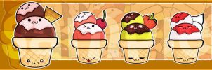 Ice Cream  Family Bookmark by meiji1990
