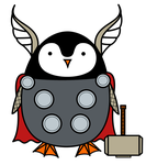 Penguin Thor by bewarethepossums