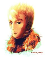 Dragon Slayer Portrait Project : Laxus by astrayeah