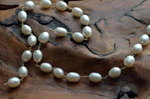 Pearl in Gf wire Necklace_wip by lamorth-the-seeker