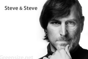 Steve and Steve Jobs by Greensize