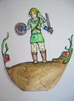 Link Stained Glass 1 by Phantomsamurai