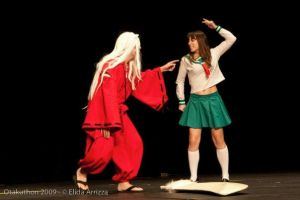 InuYasha and Kagome on Stage 2 by SerenityPhoenix