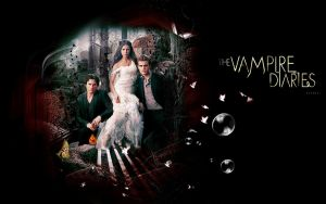 Wallpaper Vampire Diaries by shad-designs