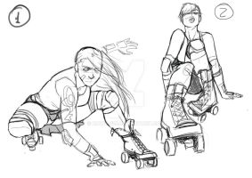 Roller Derby Logo Sketch I by Hawk-619