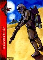 Sand Trooper sketch card 501st Legion CVI 2012 by geralddedios