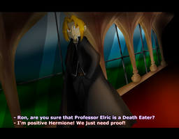 Edward Elric appearing in Harry Potter the Anime by Tailsgothicangel
