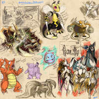 Sketchdump: Pokemon! (2) by Frost-Vixen