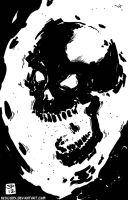 Ghost Rider Sketch Jan 2012 2 by NexusDX