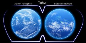 Tethys both hemispheres by Charanty
