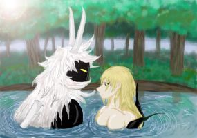 Maldor and Lux - Bath Scene by Kweh-chan