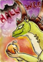 ACEO - DragonChameleon by DarkAfi4