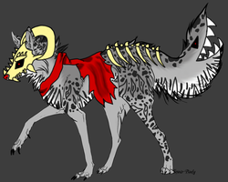 Dragon masked wolf tailmouth adopt (closed) by ATwistedRumour