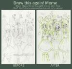 Magical idols- After and before Meme by SweetAbril