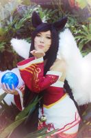 [Honey Toast Cosplay] Ahri - League of Legends by KBLNoodles