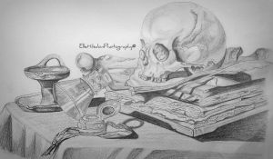 'Memento mori' drawing by EHilsdonPhotography