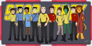 The Crew of the USS Hood by LaVioletta
