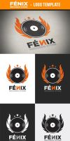 Fenix Records Store Logo Template by odindesign