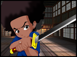 Huey from Boondocks by Hand-Banana