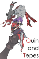 Quin and Tepes by monorobu