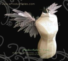 Grey ESME Feather Angel Wings by eProductSales