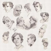 Sherlock sketches by DafnaWinchester