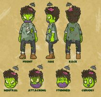 Zombie character sheet by ExoesqueletoDV