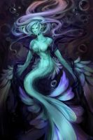 Ghost mermaid by Nyamesiss