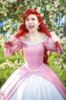 Red hair and pink dress by Ryoko-demon