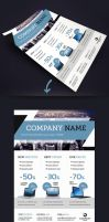 Corporate Business Flyer Template A4 by renefranceschi
