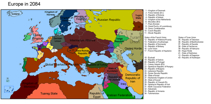 Europe in 2084 by vladyslav-ai
