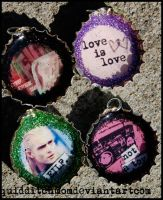 Random Bottle Cap Charms by quidditchmom