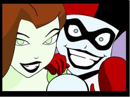 Harley Quinn And Poisen Ivy by FlowerGirl95
