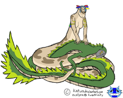 Commission: Snakesies woo by Katuro