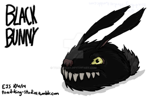 Black Bunny - Late Night Doodling by toadking07